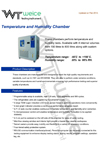 weice temperature and humidity chambers brochure